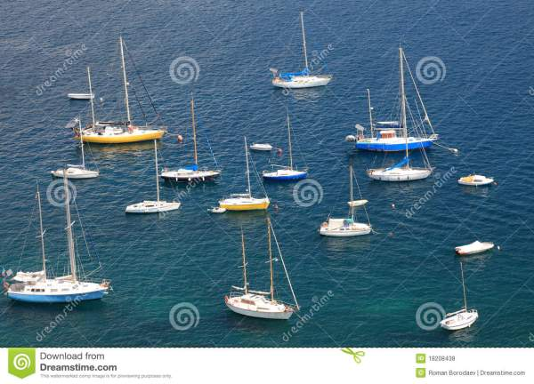 Mediterranean bay. stock photo. Image of sailboat, objects ...