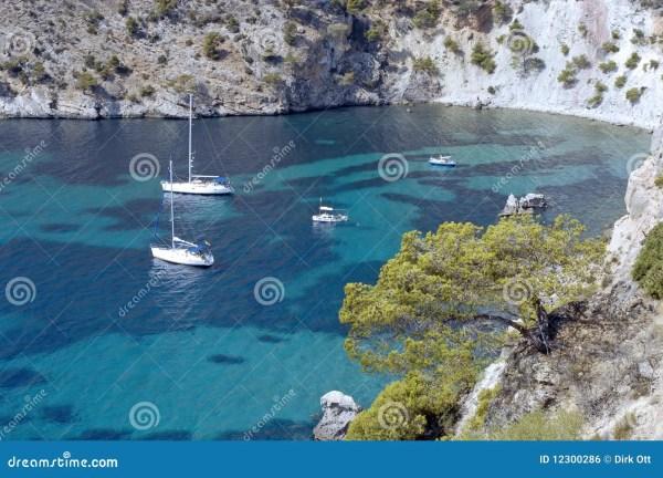 Mediterranean Bay / Majorca Stock Photo - Image of sailing ...
