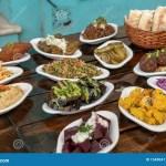 Mediterranean Meze Platter At Israeli Restaurant Stock Photo Image Of Israeli Arab 154904118