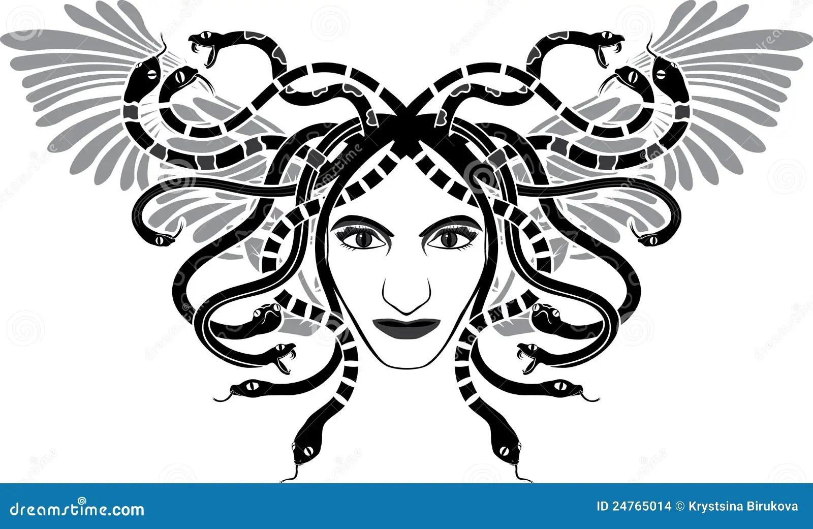 Medusa Gorgona Head Stock Images