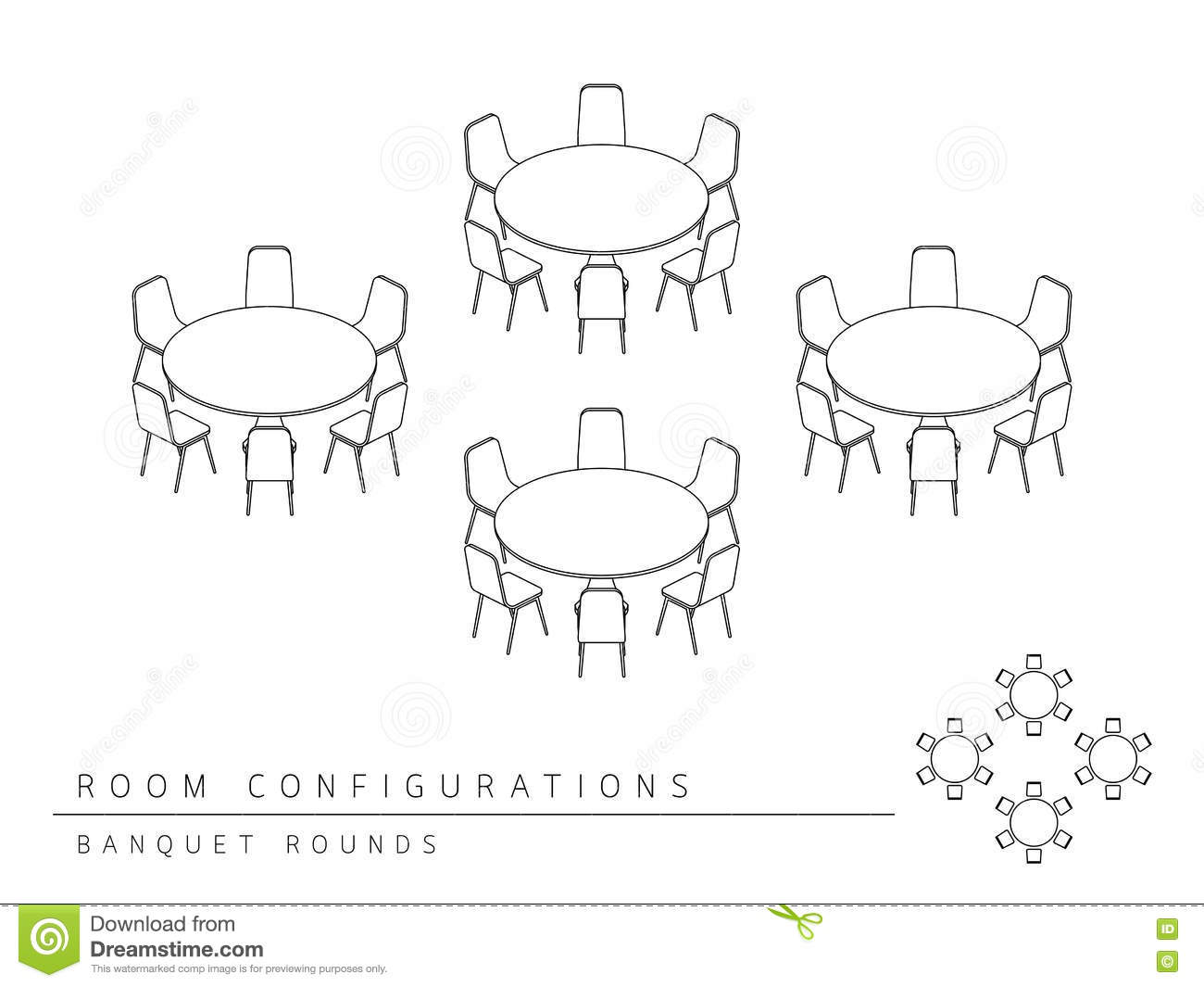 Meeting Room Setup Layout Configuration Banquet Rounds