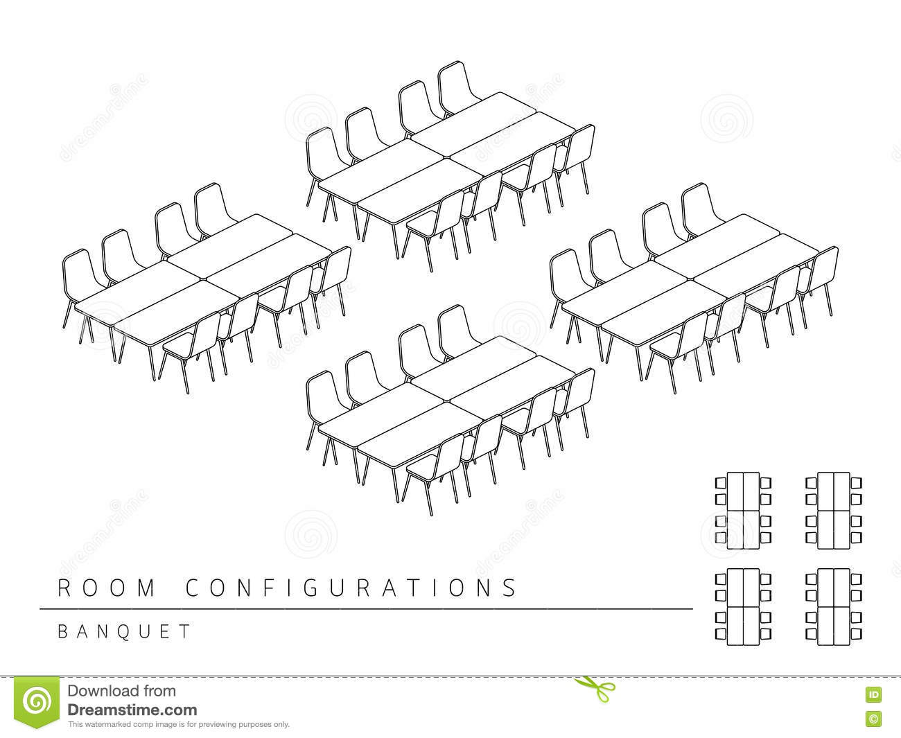 Meeting Room Setup Layout Configuration Banquet Style