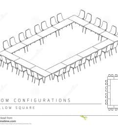 meeting room setup layout configuration hollow square style per [ 1300 x 1065 Pixel ]
