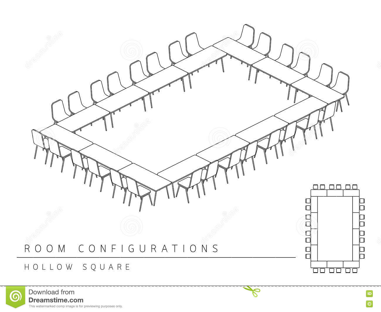 hight resolution of meeting room setup layout configuration hollow square style per