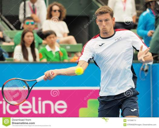 Tennis Player Pablo Carreno Busta Preparing For The ...