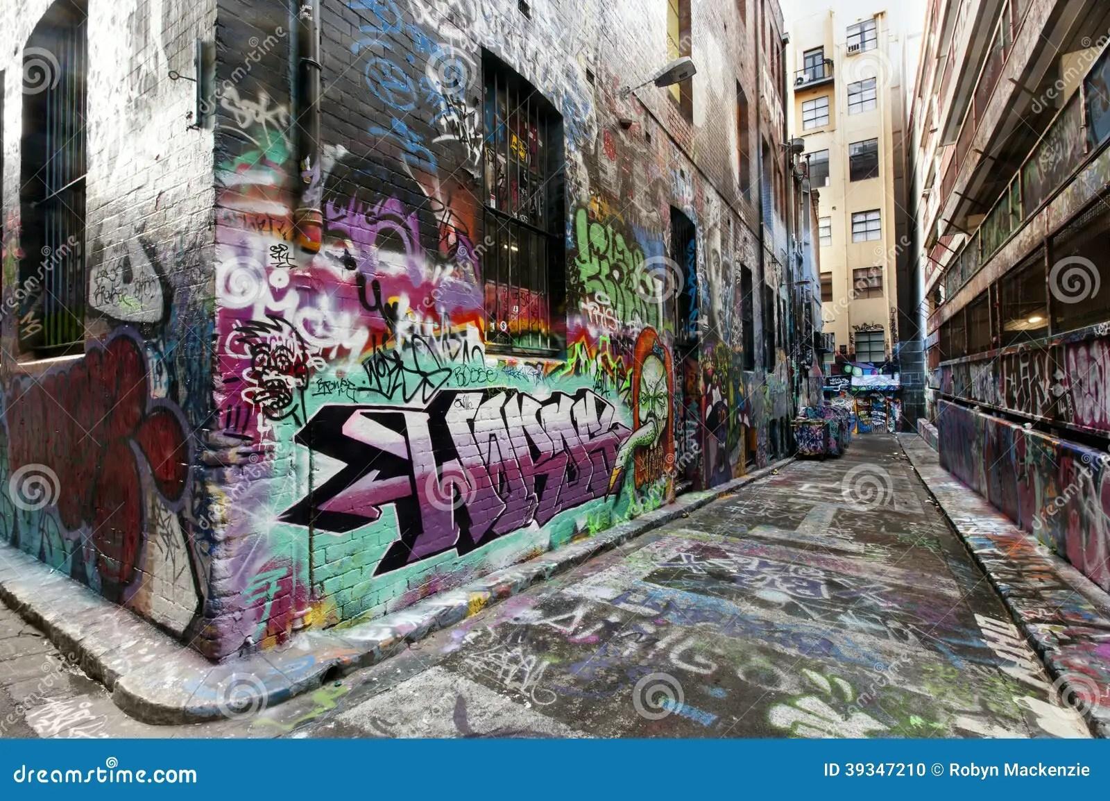 3d Changing Wallpaper Melbourne Street Graffiti Editorial Image Image 39347210