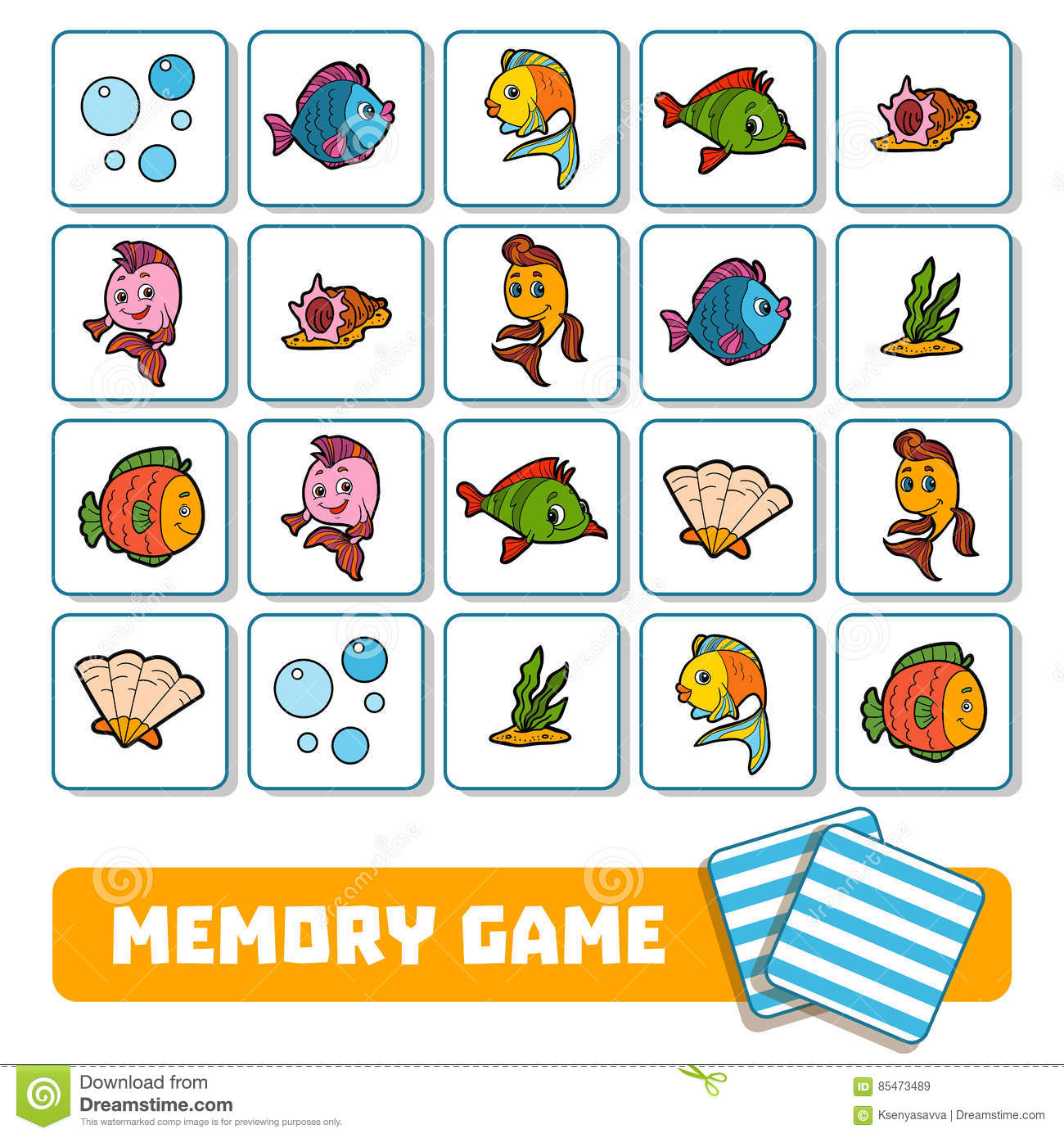 Memory Game For Children Cards With Farm Animals Vector