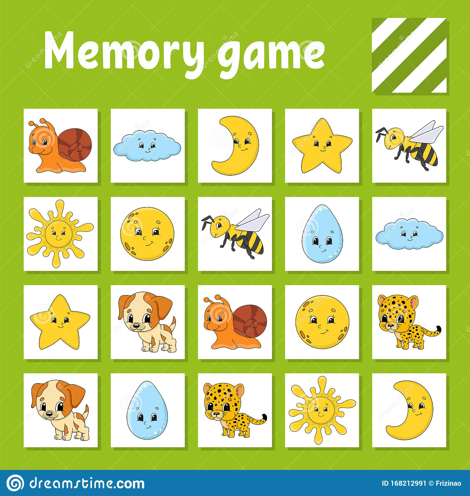 Memory Game For Kids Education Developing Worksheet