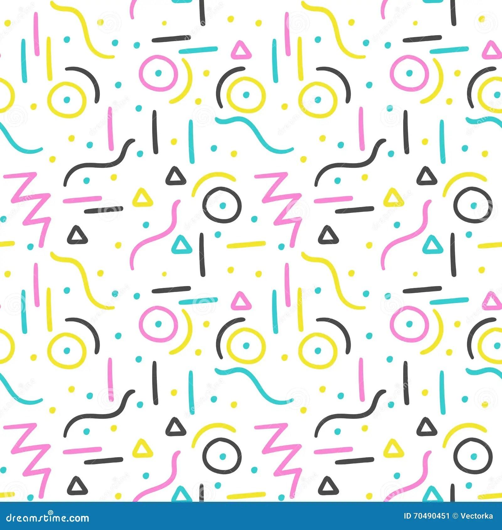 memphis pattern design seamless