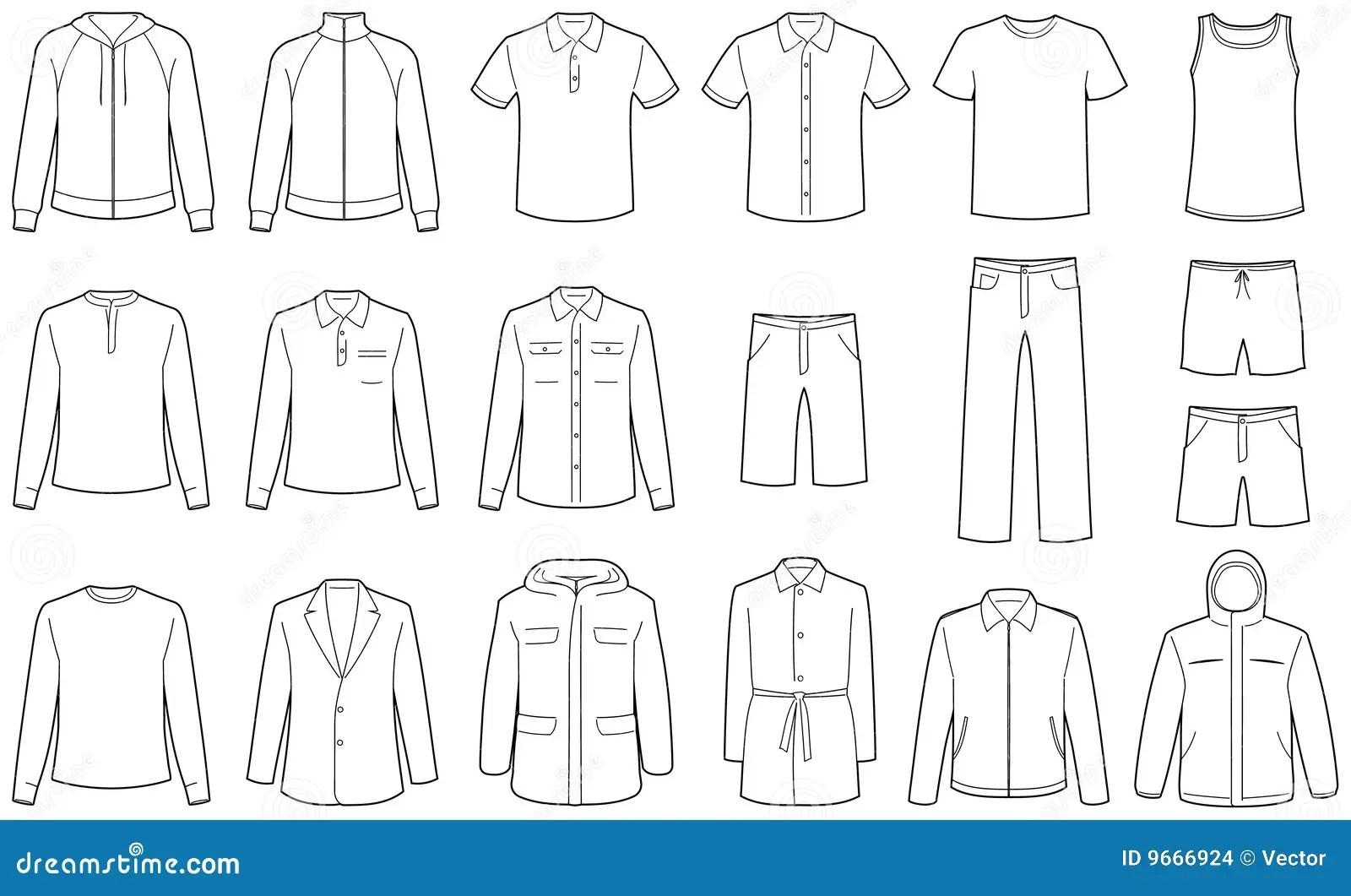 Men S Clothes Vector Illustrations Stock Vector