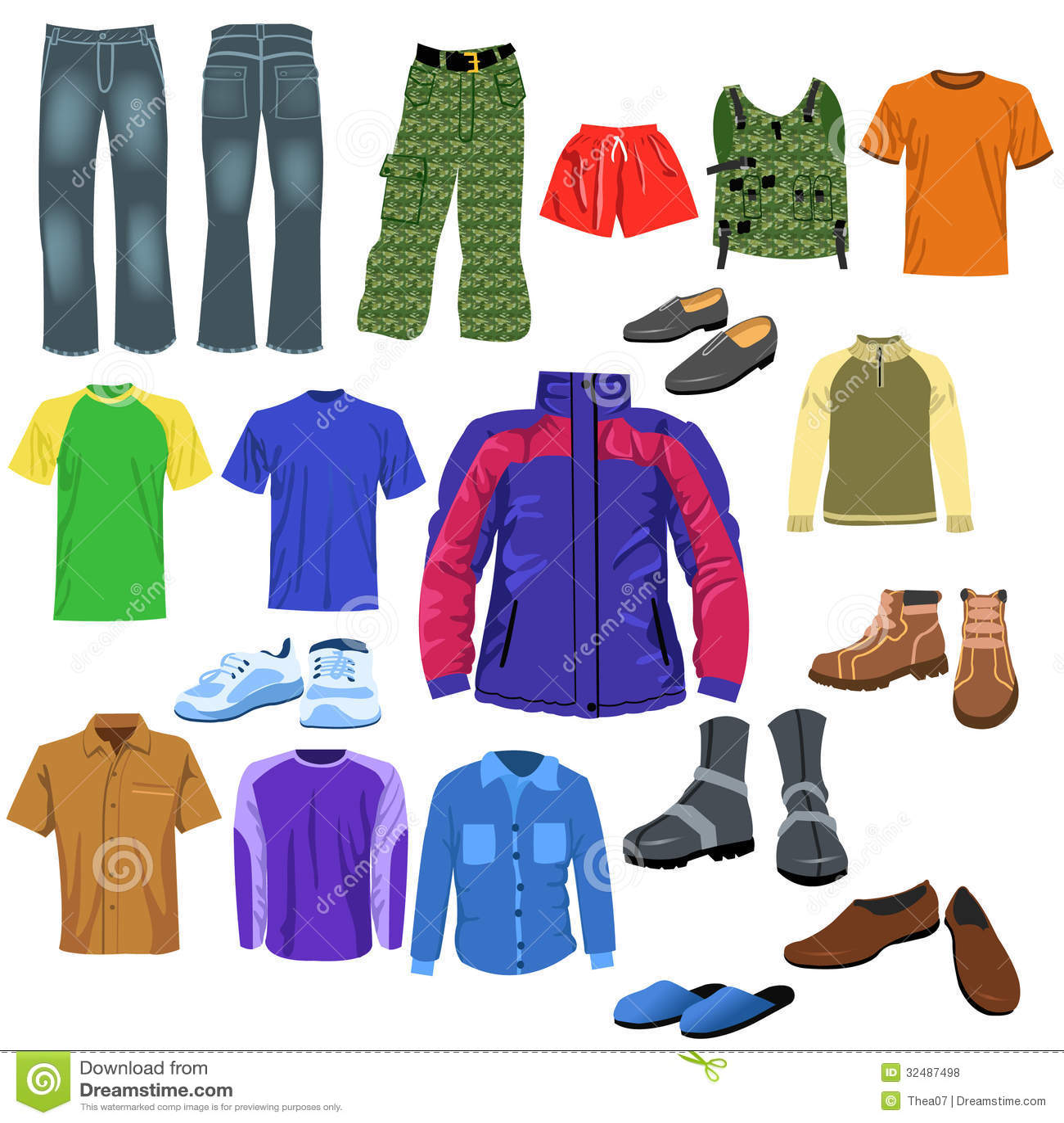 Men Clothes Stock Vector Illustration Of Blue Sport
