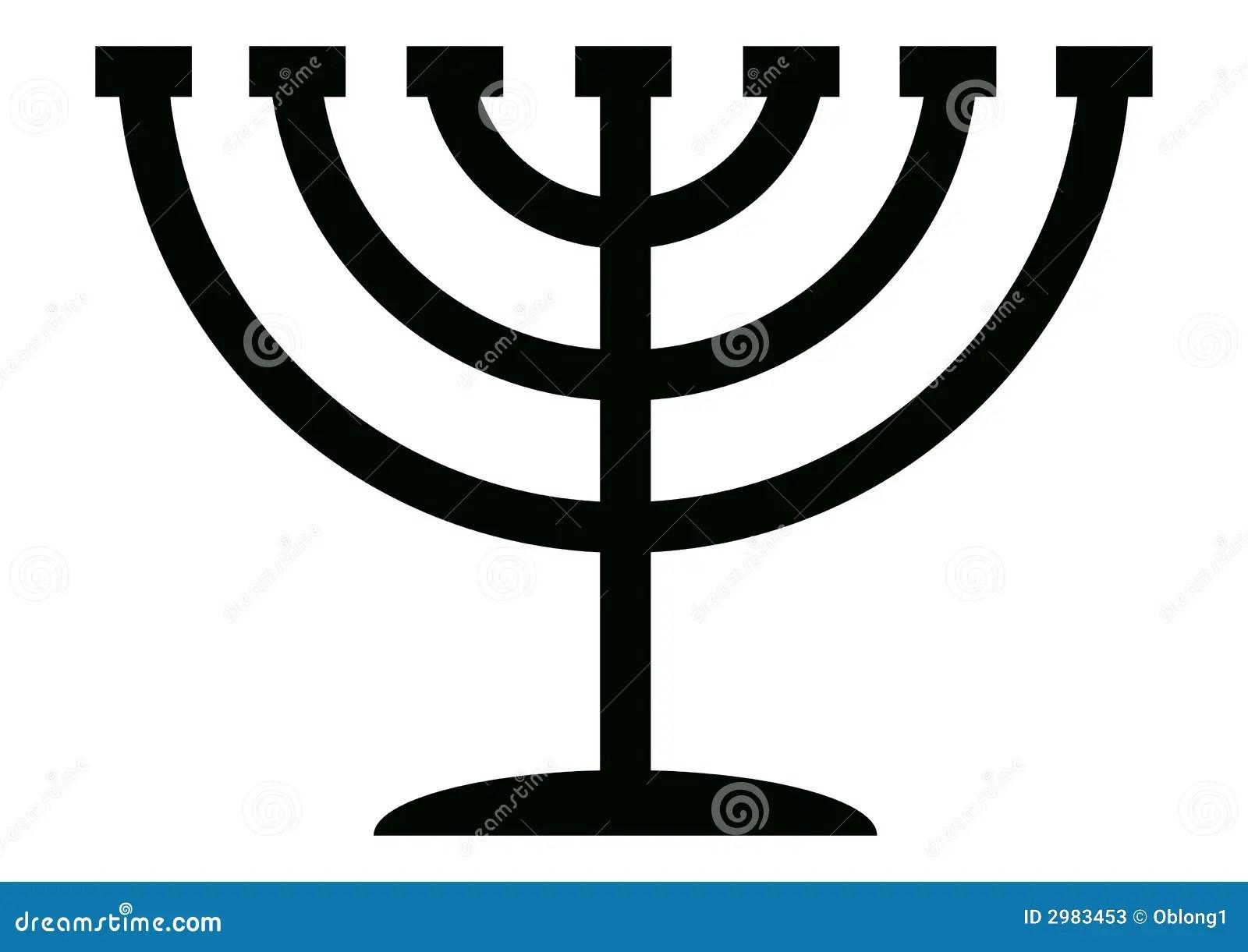 Menorah Candelabrum Stock Vector Illustration Of Jewish
