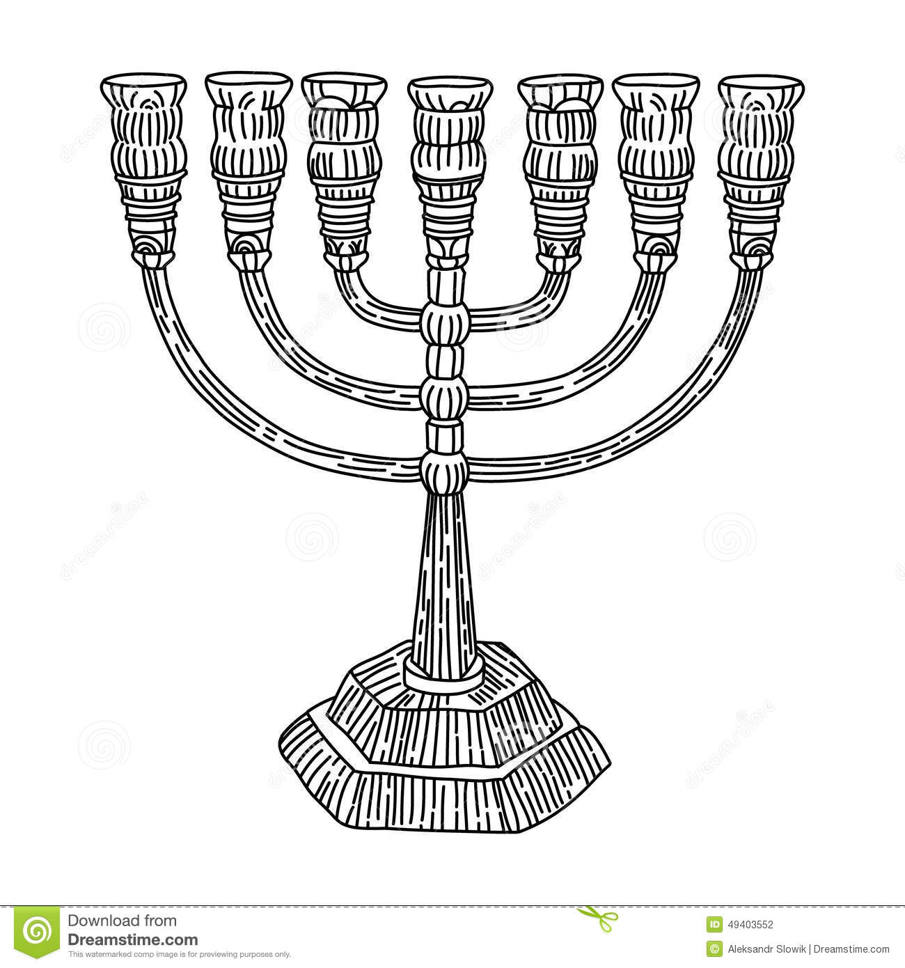 Menorah Judaism Stock Vector Illustration Of Israel