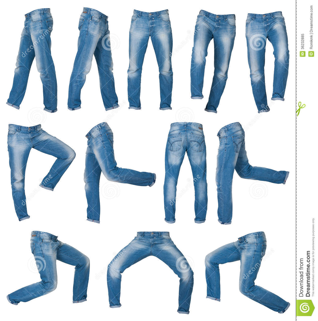 mens jeans stock image