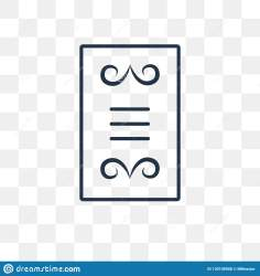 Menu Card Vector Icon Isolated On Transparent Background Linear Stock Vector Illustration of line restaurant: 130108908