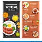 Menu Design For Cafe And Restaurant Stock Vector Illustration Of Paper Creative 115806506
