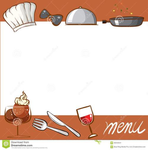 small resolution of menu design with culinary objects