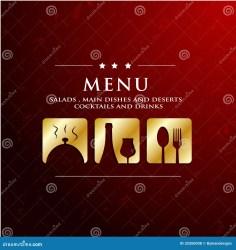 menu restaurant icon golden background vector