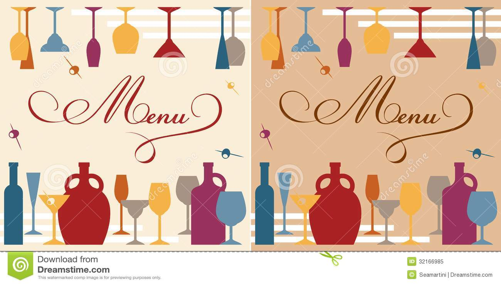 Menu Template For Bar Or Restaurant Stock Vector - Illustration of ...