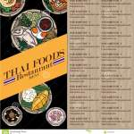 Menu Thai Food Design Template Stock Vector Illustration Of Dishes Card 125201014