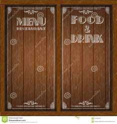 Menu wood board design stock vector Illustration of cooking 106402827