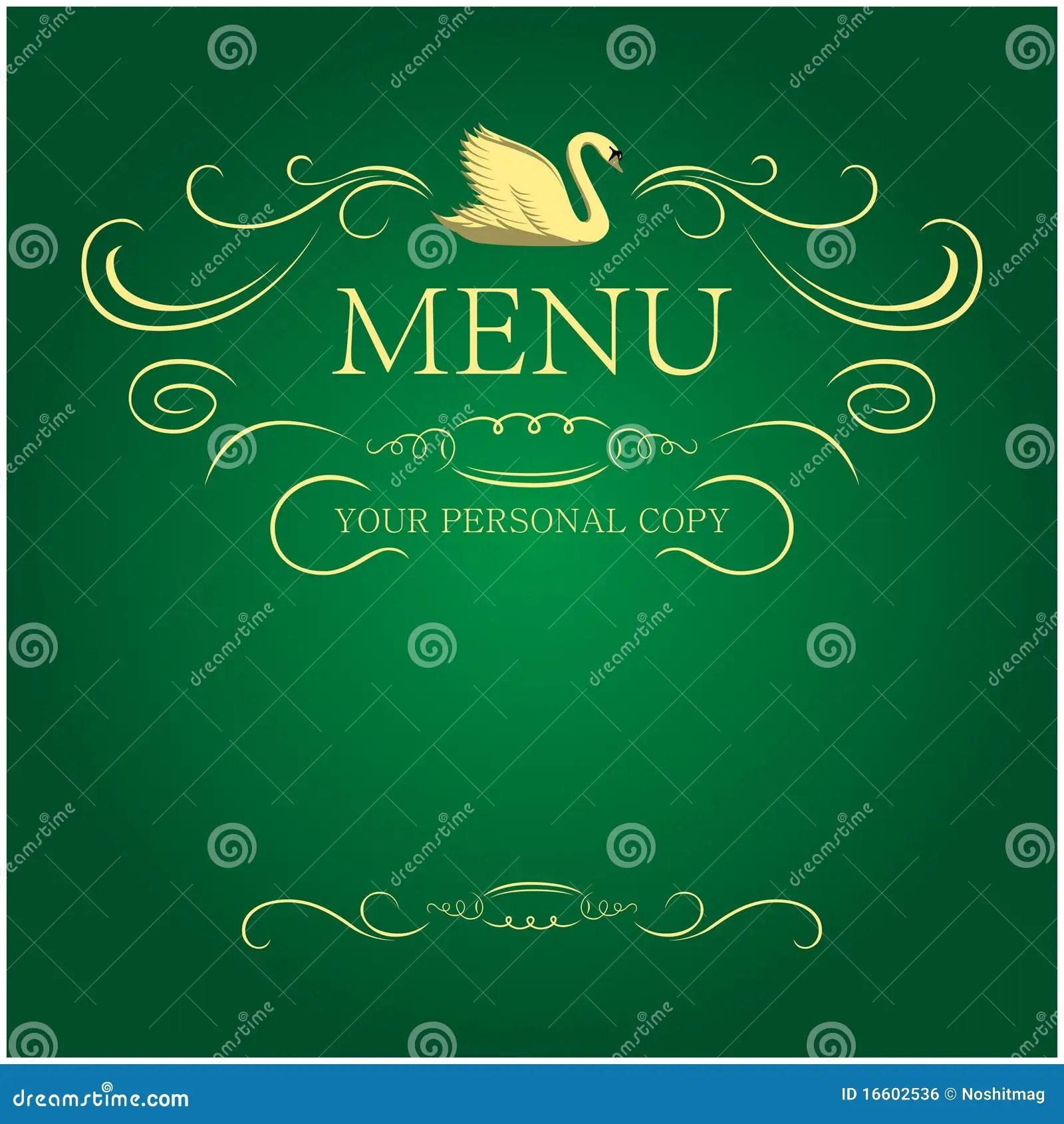 Menus blank stock vector Illustration of hand cutlery