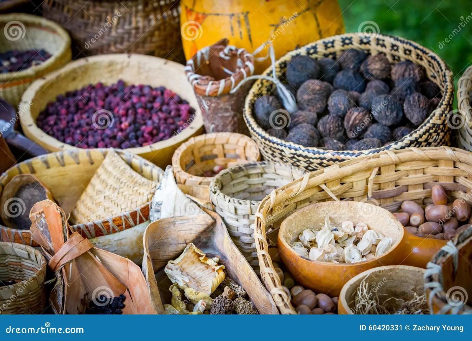 Mercado De La Comida Del Nativo Americano Imagen De