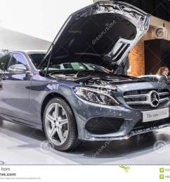 nontaburi thailand 2 dec mercedes benz the new c class open bonnet for showing engine on display showed in 31th thailand international motor expo on 2  [ 1300 x 957 Pixel ]