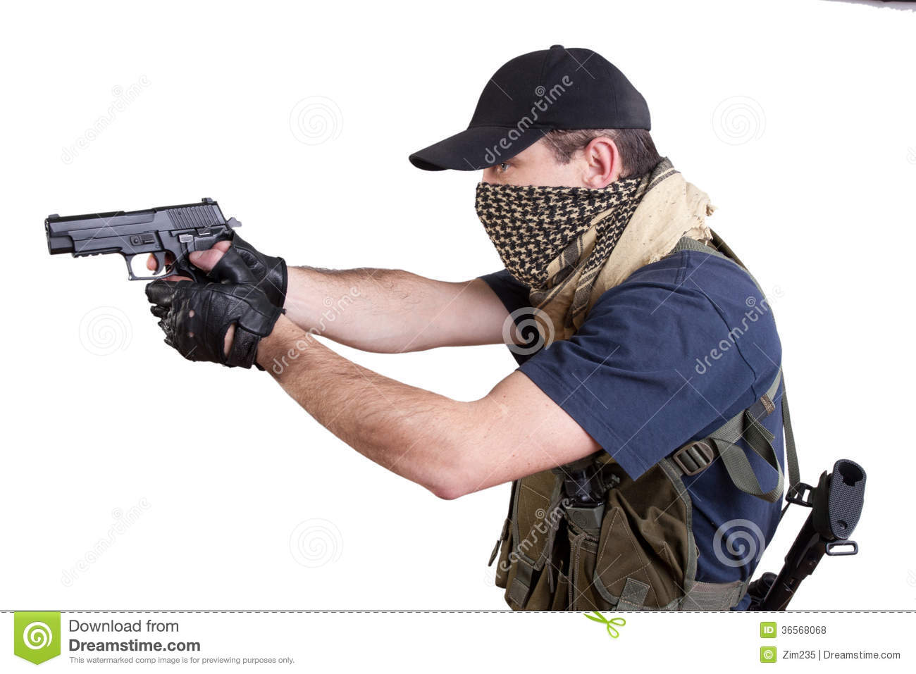 Mercenary  Private Security Contractor Royalty Free Stock