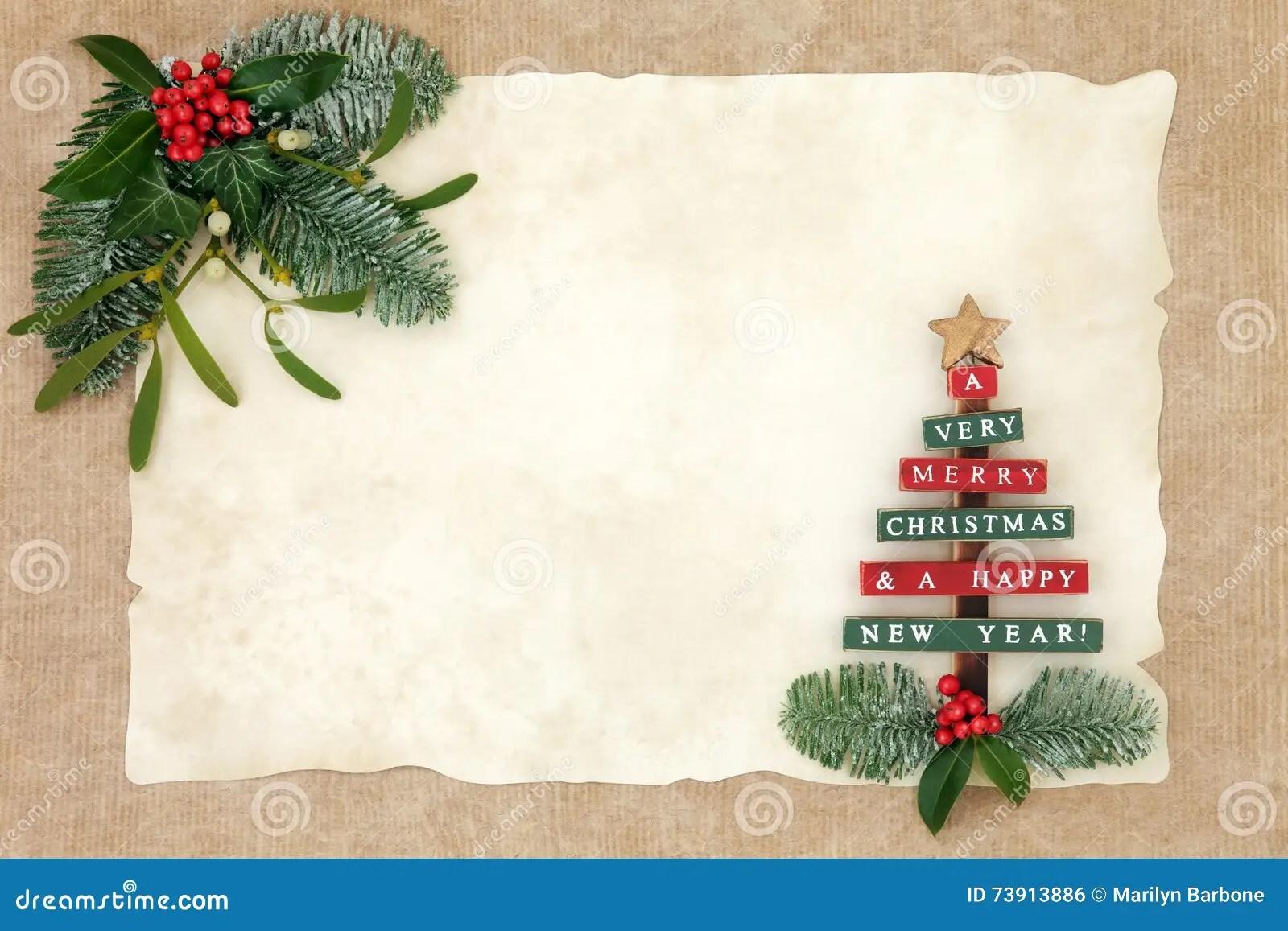 Merry Christmas Background Border Stock Photo Image Of