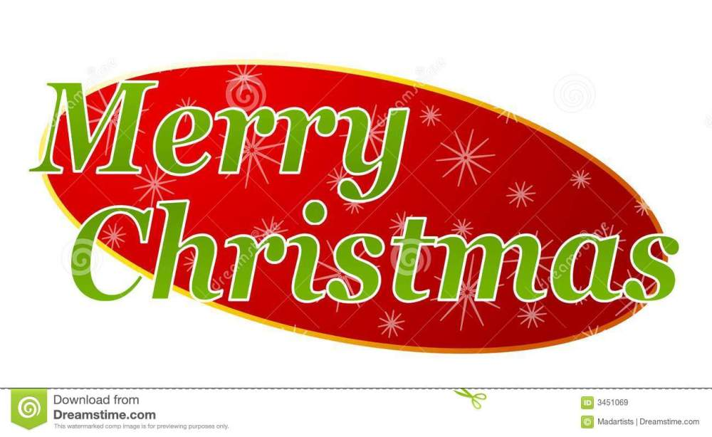 medium resolution of a clip art illustration featuring merry christmas for use as a banner header etc