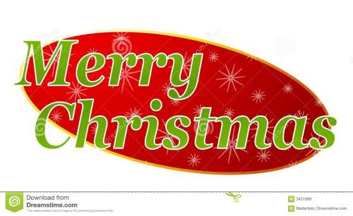 small resolution of a clip art illustration featuring merry christmas for use as a banner header etc