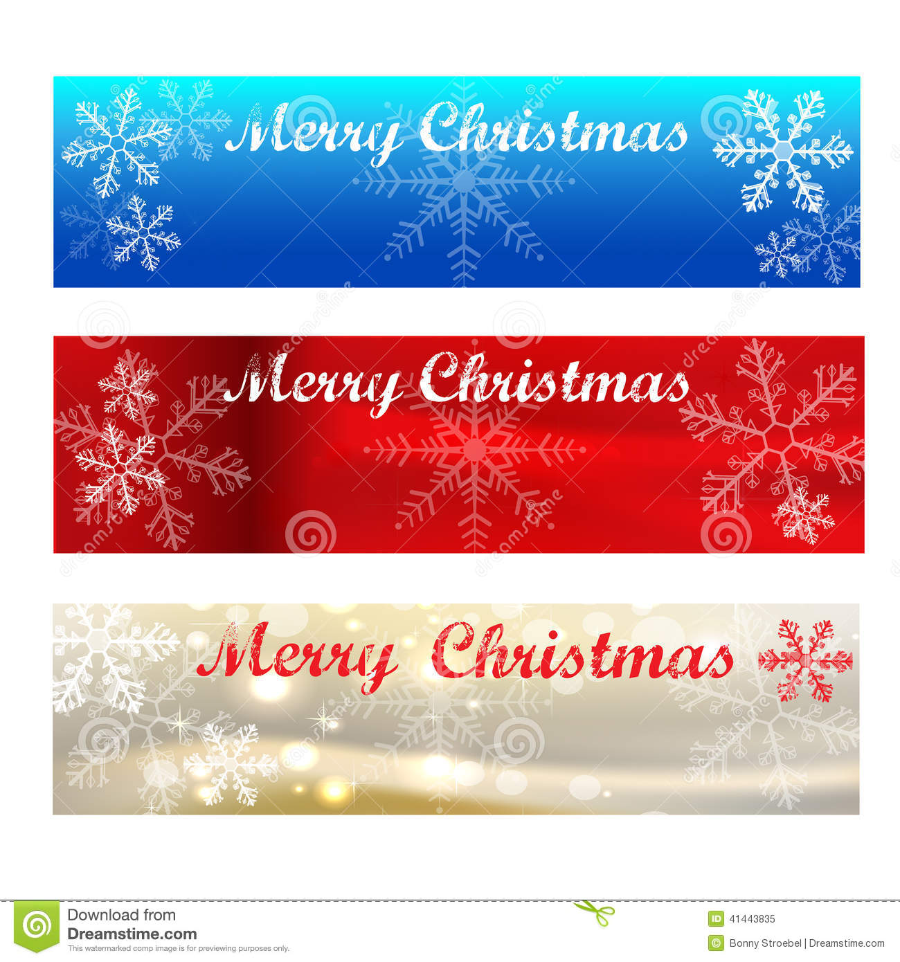 merry christmas banners colour