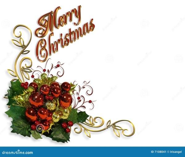 merry christmas border baubles