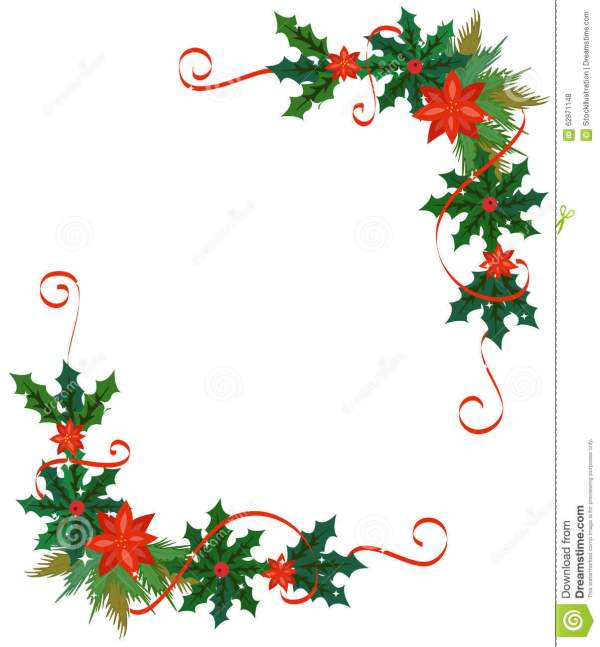 merry christmas border and decoration
