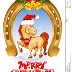 Merry Christmas Card Stock Vector Illustration Of Comic 33003474