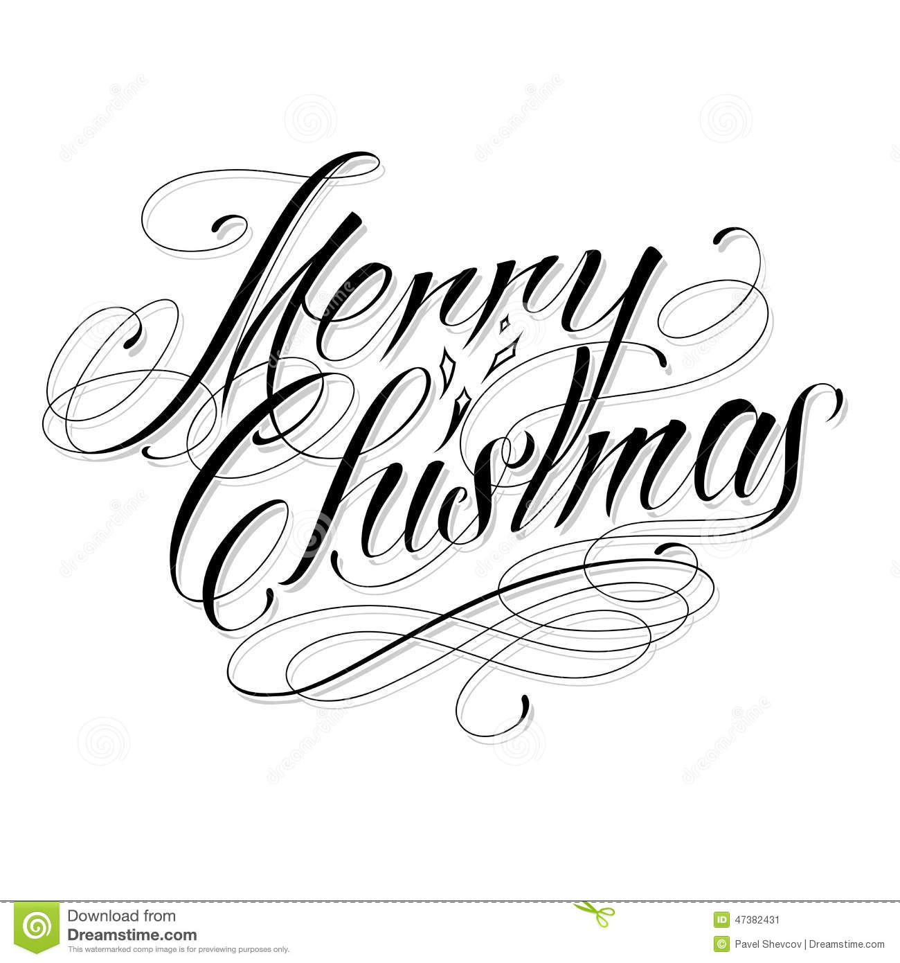 Merry Christmas Stock Vector Image 47382431