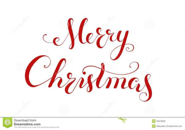 merry christmas handwriting lettering