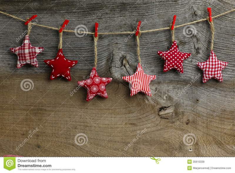 Merry Christmas Hanging Decoration Red And White Pattern Fabric