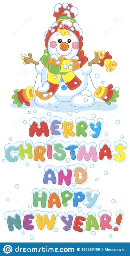 small resolution of christmas card with a funny snowman