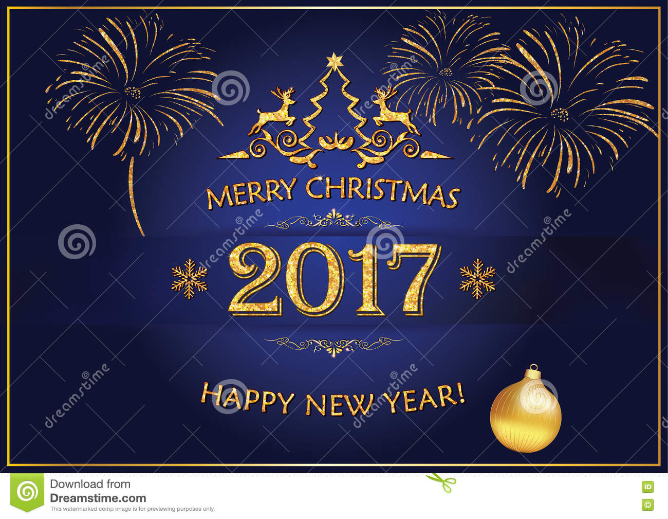 And Greetings Year 2017 Merry Christmas Happy New