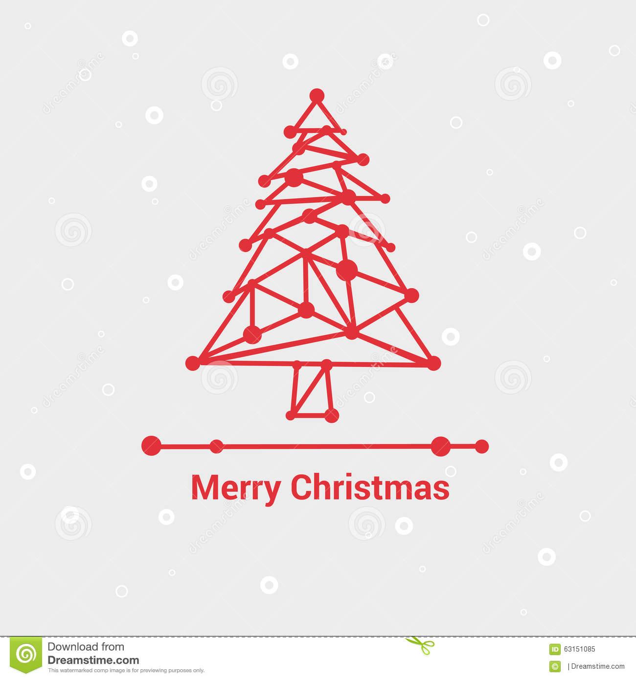 Merry Christmas And Happy New Year, Line Minimalist Style