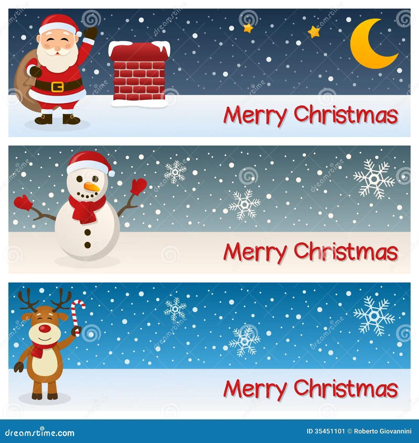 merry christmas banners