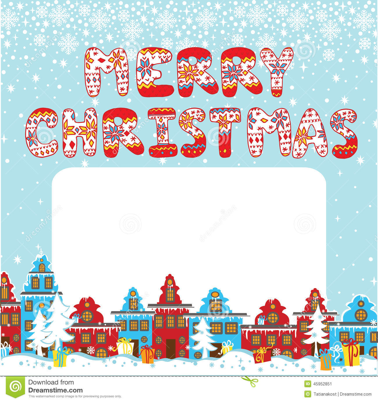 Merry Christmas Knitted Letters Cartoon Christmas Stock