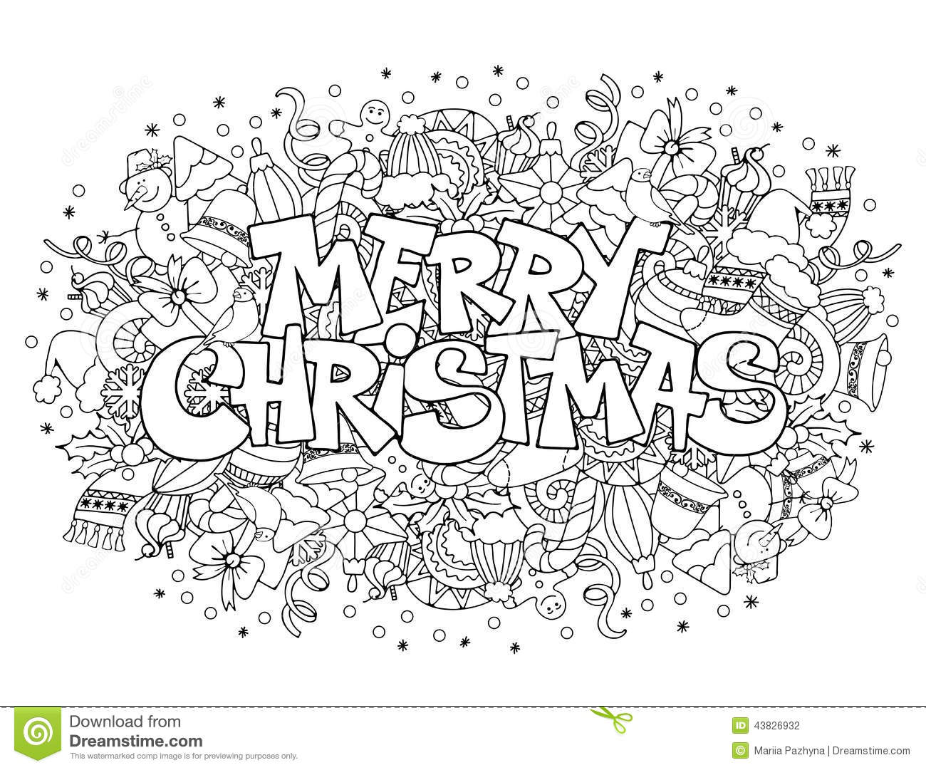 Merry Christmas Stock Vector Image Of Holy Festive
