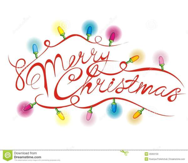 merry christmas lettering stock