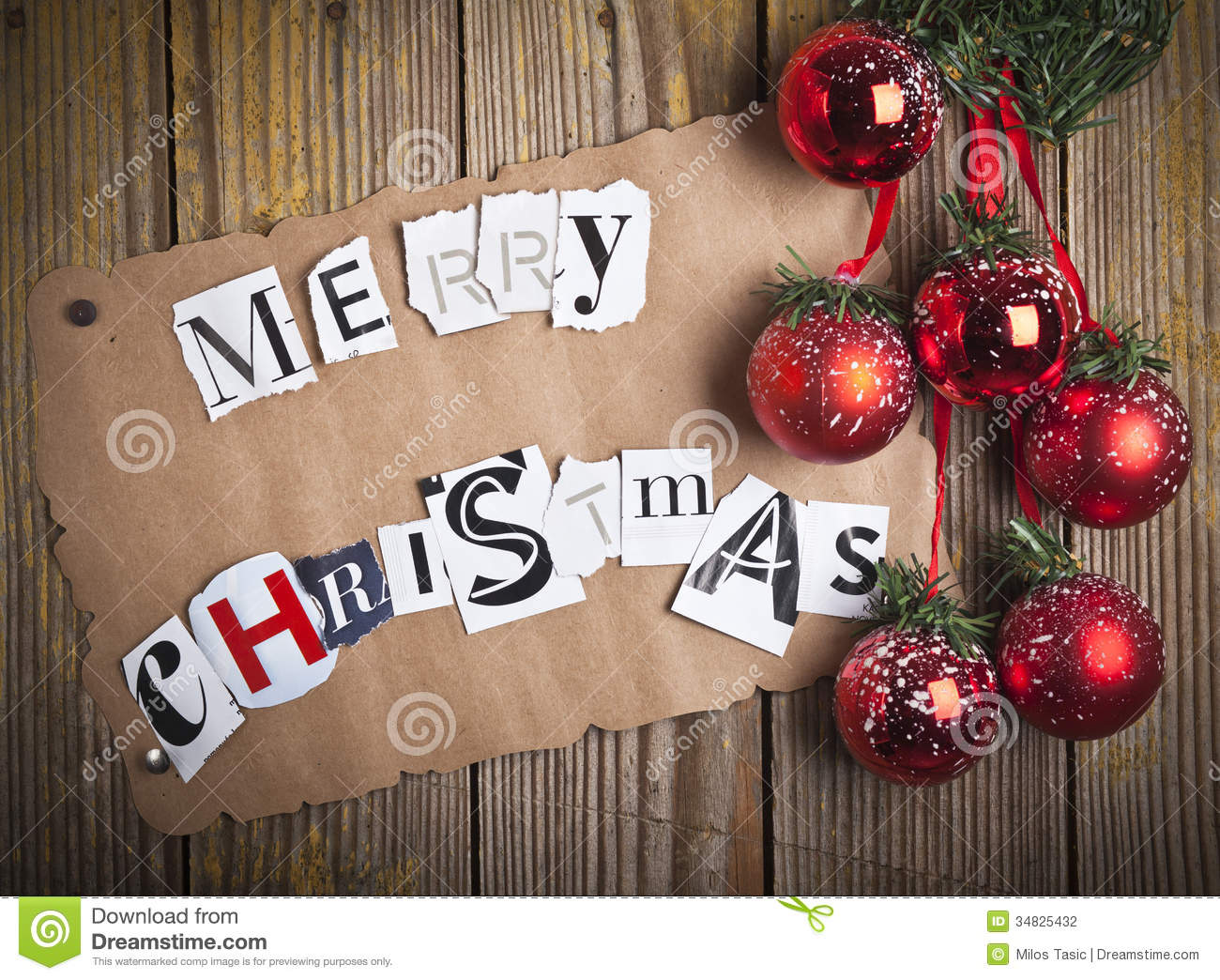 Merry Christmas Letters Stock Photography Image 34825432