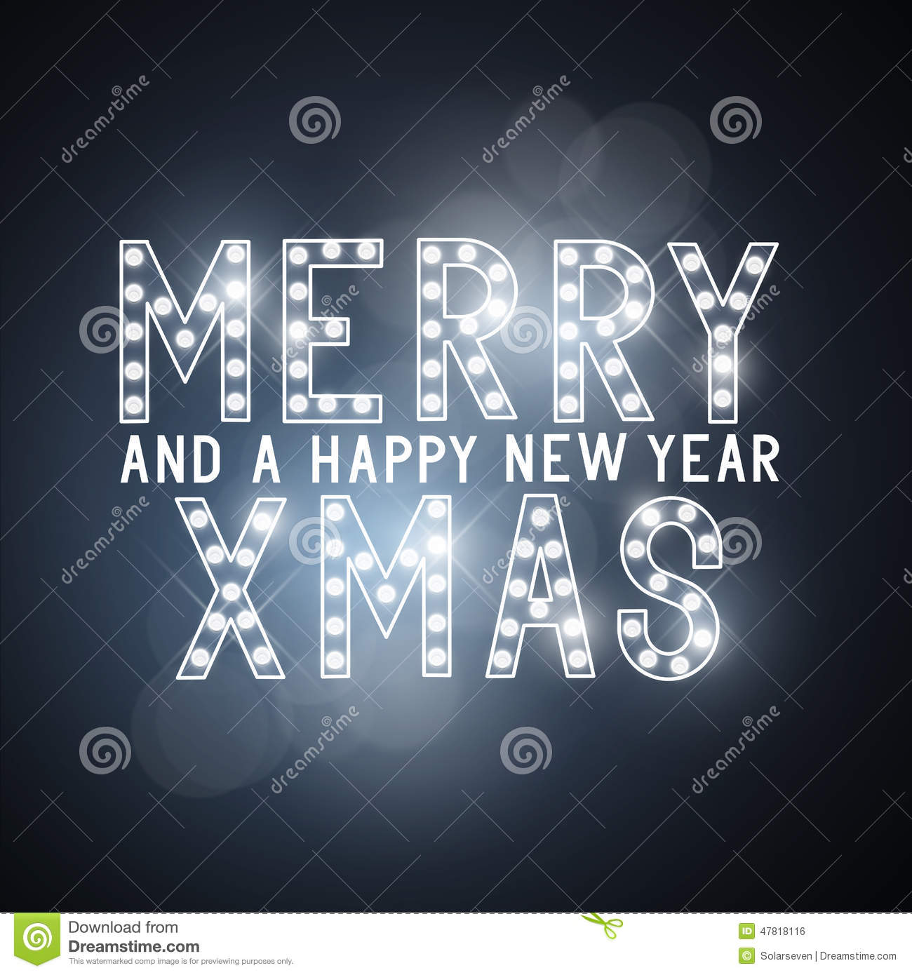 Merry Christmas Message Sign Stock Vector Image 47818116