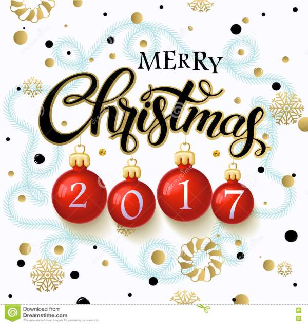 merry christmas 2017 poster. stock