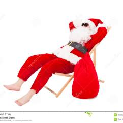 Santa Claus Chair Folding Weight Limit Merry Christmas Sitting On A With Gift